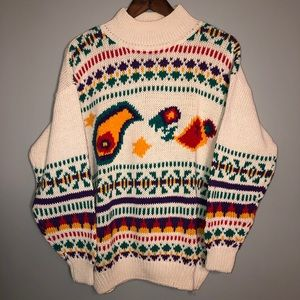 NWT Vintage Pasta Knitted Retro Sweater